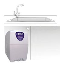 PurePro S800 RO víztisztító beszerelve konyhaszekrényben
