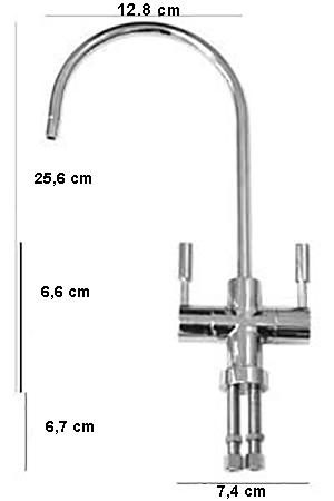 FC101D 2-utas, modern, víztisztító csaptelep méretei